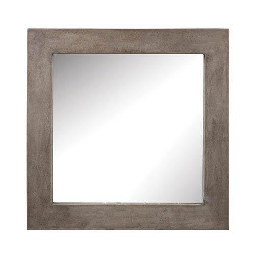 Cubo Concrete 31-Inch Square Mirror