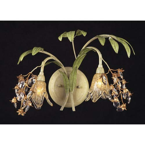 Huarco Seashell Two-Light Wall Sconce