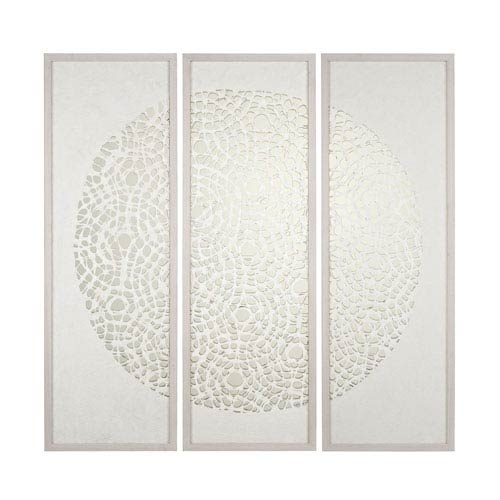 Natural Washed Wood Tone Wall Décor - Set of Three