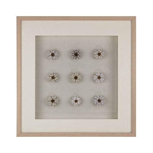 White Sea Urchin Wall Decor
