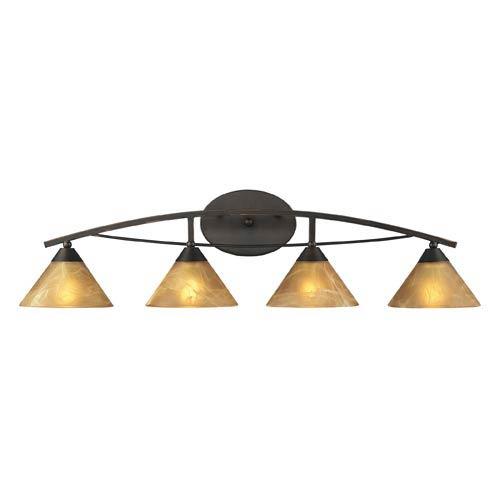Elk Lighting Elysburg Oiled Bronze Four-Light Bath Light