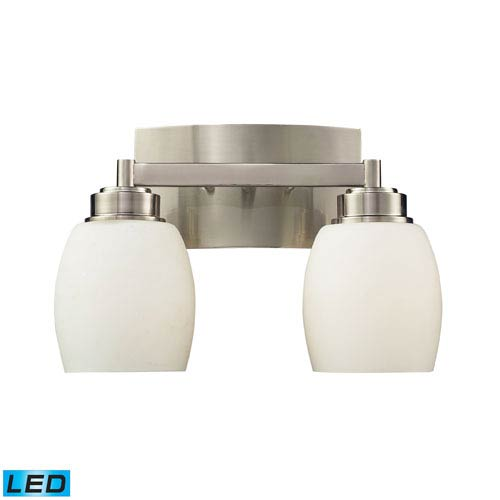 Elk Lighting Northport Two Light LED Bath Fixture In Satin Nickel