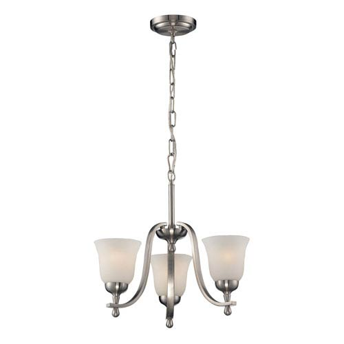 Elk Lighting Mayfield Brushed Nickel 17-Inch Three Light Chandelier