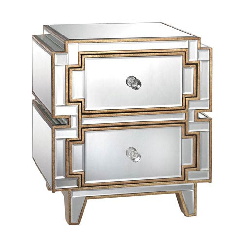 Hollywood Clear Two-Drawer Chest