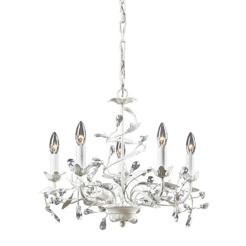 Circeo Five-Light Chandelier in Antique White