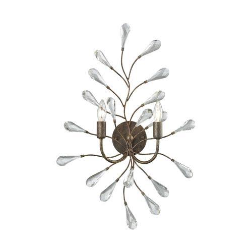Elk Lighting Crislett Sunglow Bronze Two-Light Wall Sconce