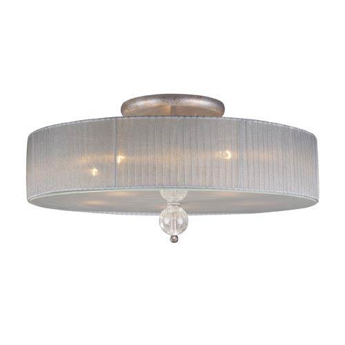 Alexis Antique Silver Semi-Flush Ceiling Light