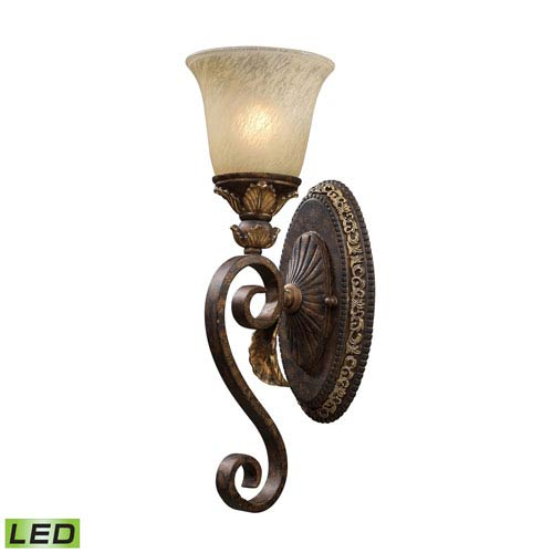 One Light Led Wall Sconce In Burnt Bronze