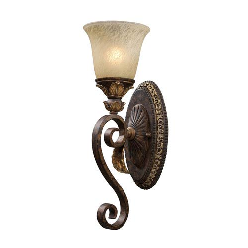 Regency Burnt Bronze One-Light Wall Sconce