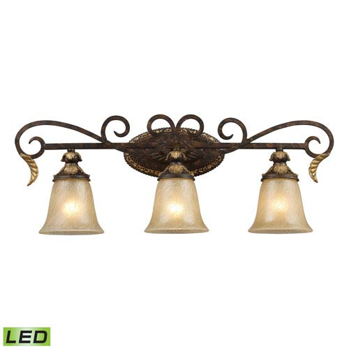 Elk Lighting Regency Three Light LED Bath Fixture Bar In Burnt Bronze