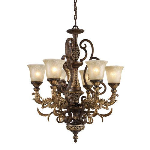 Elk Lighting Regency Six-Light Burnt Bronze Chandelier