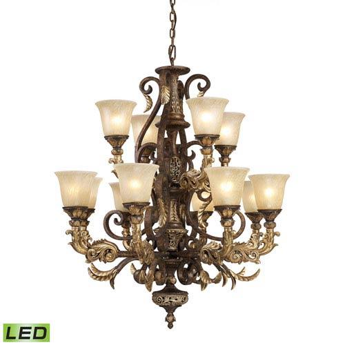 Elk Lighting Regency Burnt Bronze LED Chandelier