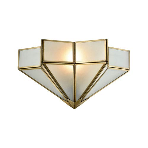 Decostar Brushed Brass One-Light Wall Sconce