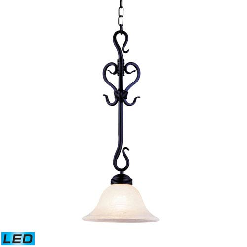 Elk Lighting Buckingham Matte Black LED One Light Pendant