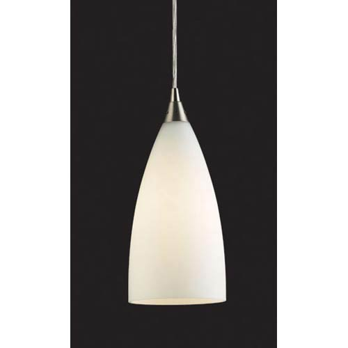Vesta Satin Nickel White Mini Pendant