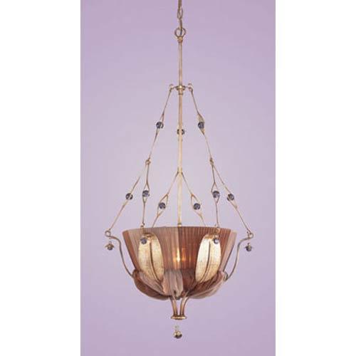 Olivissa Bronzed Silver One-Light Bowl Pendant