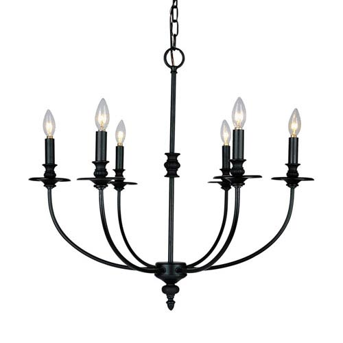 Elk Lighting Hartford Oil Rubbed Six Light Chandelier