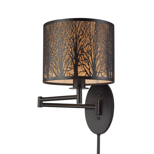 Woodland Sunrise Oil Rubbed Bronze One-Light Swing Arm Sconce