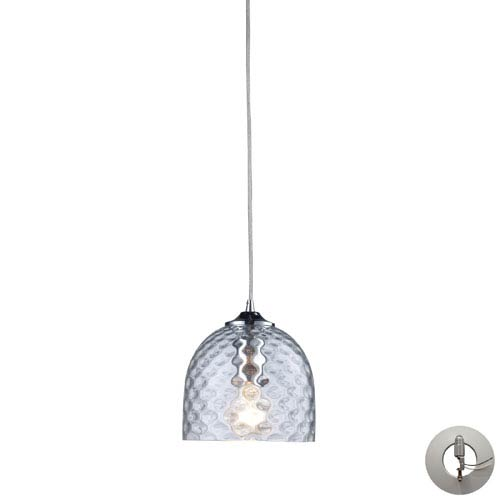 Viva One Light Clear Pendant In Satin Nickel Includes w/ An Adapter Kit