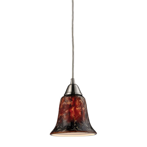 Elk Lighting Confections Fudge One Light LED Pendant In Satin Nickel