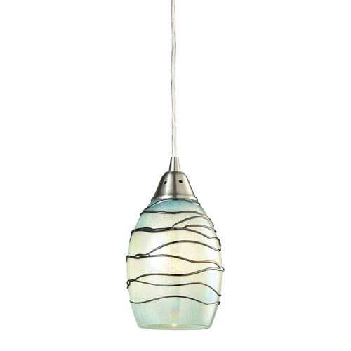 Elk Lighting Vines Satin Nickel One Light Mini Pendant
