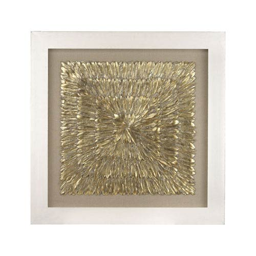 Gold Feather Gold Wall Decor