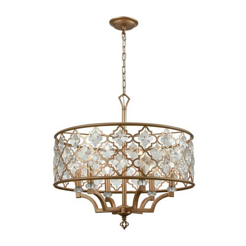 Armand Matte Gold 24-Inch Six-Light Pendant