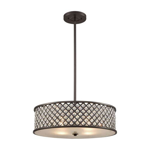Genevieve Oil Rubbed Bronze 21-Inch Four-Light Pendant