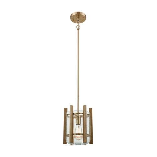 Elk Lighting Vindalia Satin Brass One-Light Mini Pendant