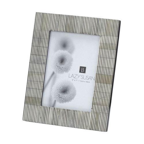 Pin Stripe Bone Gray 5 x 7-Inch Frame