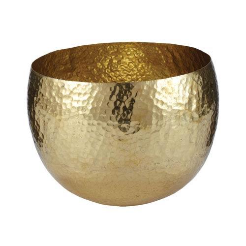 Gold Hammered Dish