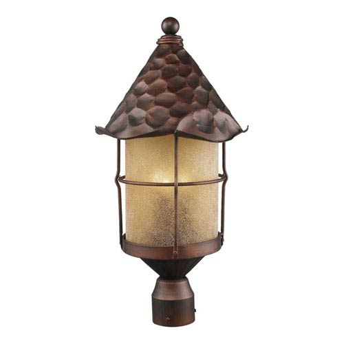 Rustica Antique Copper Post Lantern