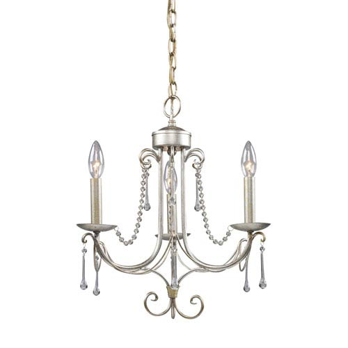 Elk Lighting Cambridge Antique Silver Three Light Chandelier