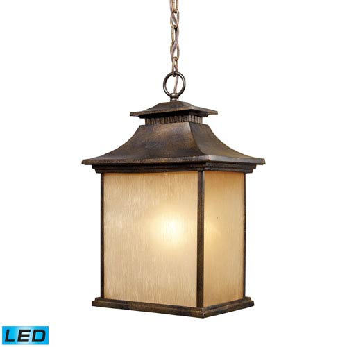 Elk Lighting San Gabriel One Light LED Outdoor Pendant In Hazelnut Bronze