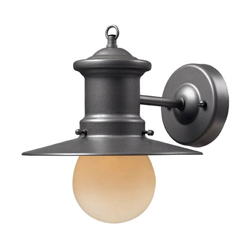 Elk Lighting Maritime One-Light Outdoor Sconce In Graphite