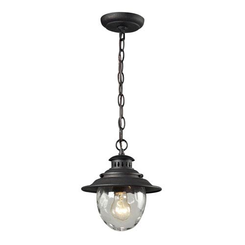 Searsport Weathered Charcoal One-Light Outdoor Pendant