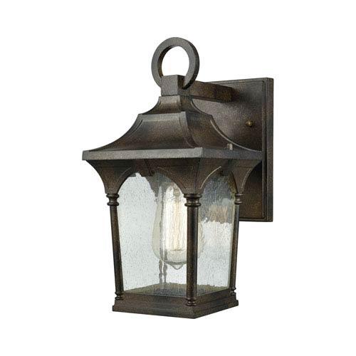 Loringdale Hazelnut Bronze 6-Inch One-Light Outdoor Wall Lantern