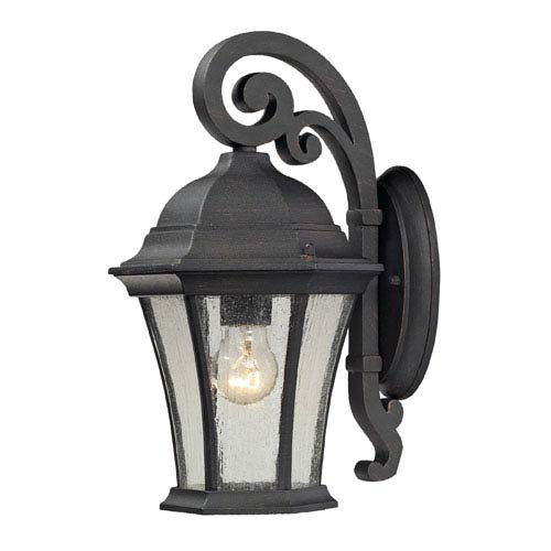 Elk Lighting Wellington Park One Light Outdoor Wall Sconce In Weathered Charcoal