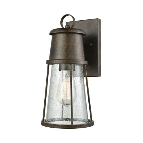 Crowley Hazelnut Bronze 6-Inch One-Light Outdoor Wall Lantern