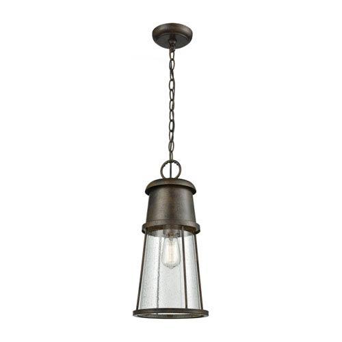 Crowley Hazelnut Bronze 8-Inch One-Light Outdoor Hanging Light