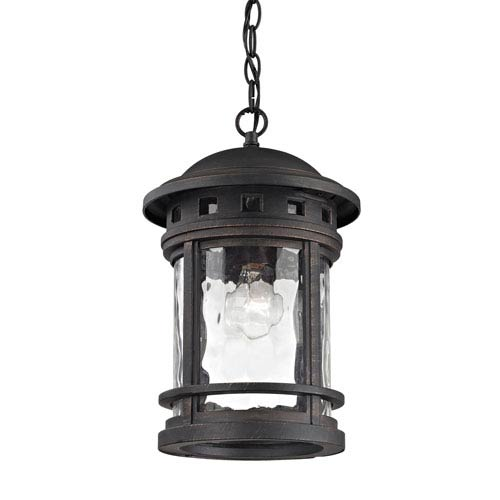 Costa Mesa Weathered Charcoal One-Light Outdoor Pendant