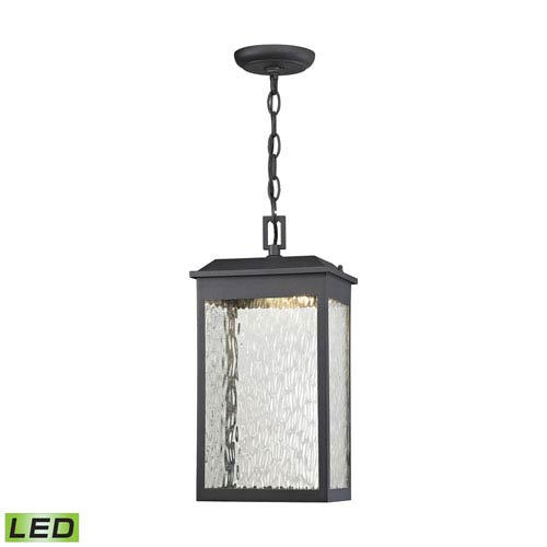Newcastle Textured Matte Black 8-Inch One-Light Outdoor Hanging Light