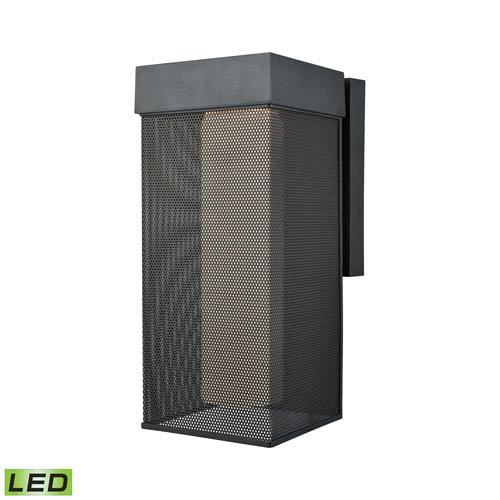 Elk Lighting Estacada Matte Black 7-Inch One-Light Outdoor Wall Lantern