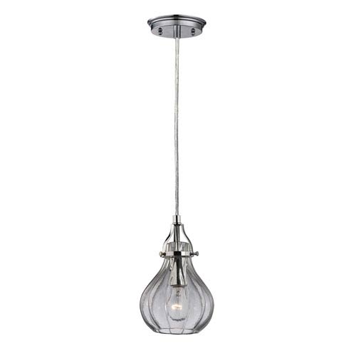 Elk Lighting Danica Polished Chrome 10-Inch One Light Mini Pendant