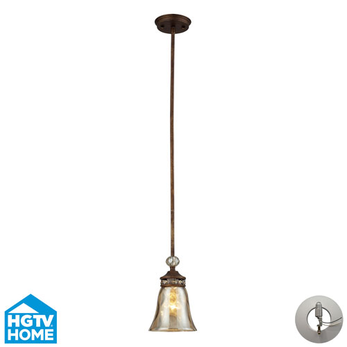 Elk Lighting Cheltham One Light Pendant In Mocha Includes w/ An Adapter Kit