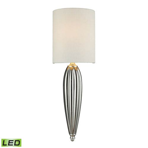Martique One Light LED Wall Sconce In Chrome And Silver Leaf