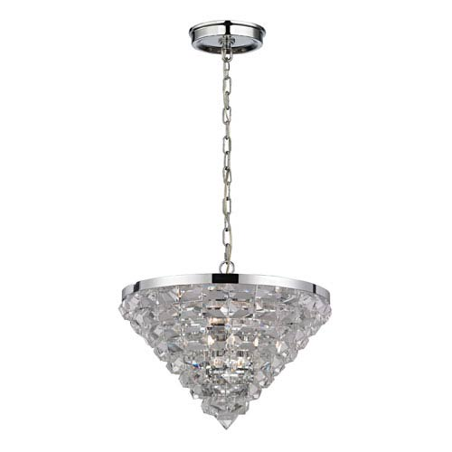 Elk Lighting Crystal Ice Polished Chrome Five Light Pendant