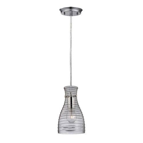 Elk Lighting Strata Polished Chrome 10-Inch One Light Mini Pendant