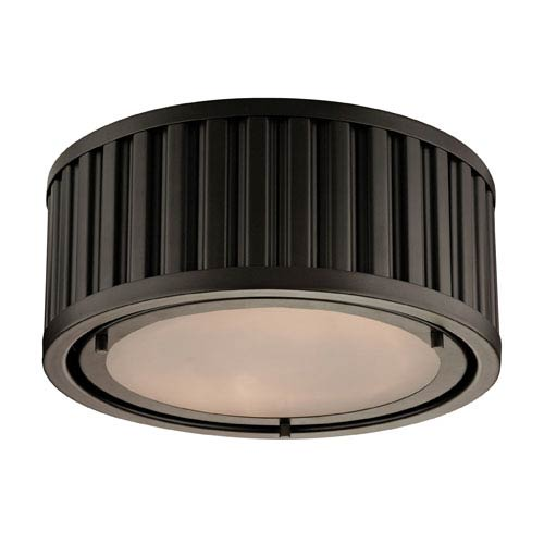 Elk Lighting Linden Oil Rubbed Bronze 5-Inch Two Light Flush Mount Fixture