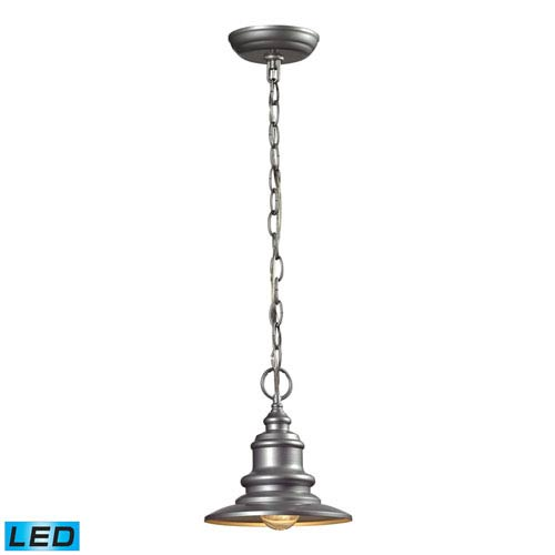Marina Matte Silver LED One Light Outdoor Hanging